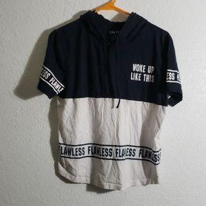 Hoodie Tshirt 100% cotton large